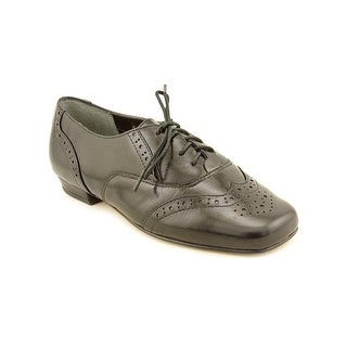 Mark Lemp By Walking Cradles Jake Women W Wingtip Toe Leather Black Oxford