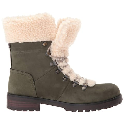Ugg Womens Fraser Leather Cap Toe Mid-Calf Cold Weather Boots