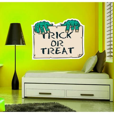 Trick Or Treat Wall Decal, Trick Or Treat Wall sticker, Trick Or Treat wall decor