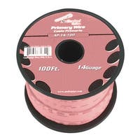 Audiopipe 14 Gauge 100Ft Primary Wire pink