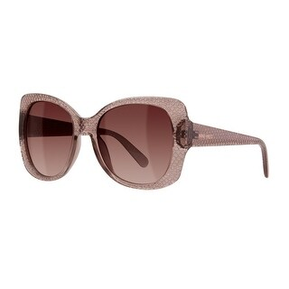 Nine West Womens Butterfly Sunglasses Oversized UV Protection - crystal nude - o/s