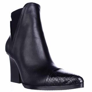 Donald J Pliner Vaughn Pointed Toe Strech Ankle Boots - Black