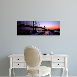 Easy Art Prints Panoramic Images's 'Suspension bridge, Ben Franklin Bridge, Philadelphia, Pennsylvania' Canvas Art