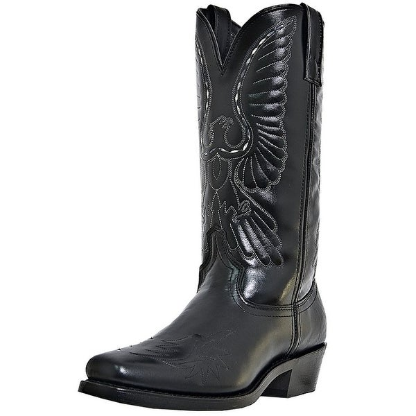 Laredo Western Boots Mens Gainesville Trucker Eagle Stitch Black