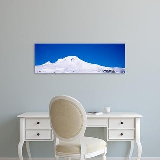 Easy Art Prints Panoramic Images's 'Snowcapped mountains, Mt Hood, Oregon, USA' Premium Canvas Art