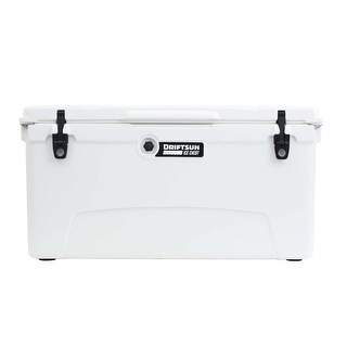 Driftsun 110 Quart Ice Chest / Heavy Duty Cooler / High Performance Commercial Grade Insulation (White)