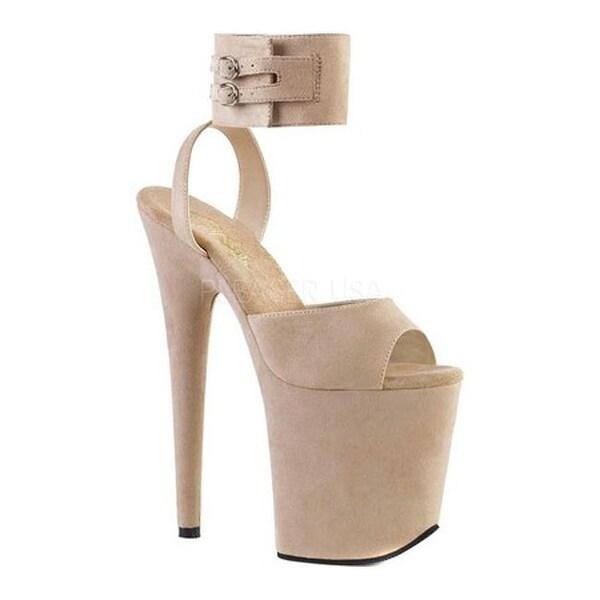 4a1751c14a Shop Pleaser Women's Flamingo 891 Platform Sandal Beige Faux Suede/Beige  Faux Suede - Free Shipping Today - Overstock - 20503051