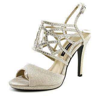 Caparros Poet Women Open-Toe Synthetic Silver Slingback Heel