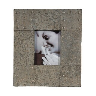 Galvanized Zinc Finish Photo Frame 17 1/2 Inches By 15 1/2 Inches