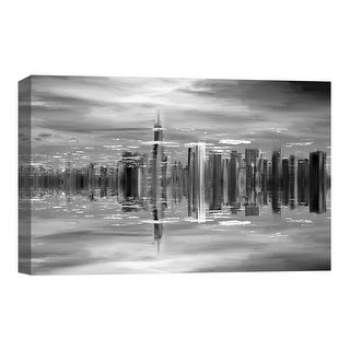 "PTM Images 9-124859  PTM Canvas Collection 8"" x 10"" - ""Aqua City II"" Giclee Cityscapes Art Print on Canvas"