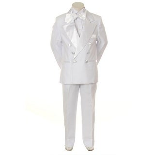 Kids Dream White Formal 4 pcs Special Occasion Boys Tuxedo 6-24M