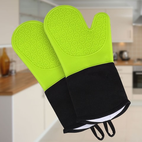Silicone Oven Mitts Toaster Heat Resistant Gloves 1 Pair