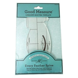 "Good Measure A. Murphy Every Feather Spine Template Longarm - 10"" x 6.25"" x 0.5"""