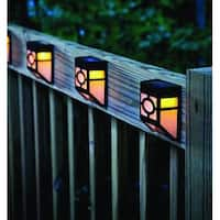 Kanstar Pack of 4 Solar Powered Outdoor Landscape Warm Light for Garden Yard Fence