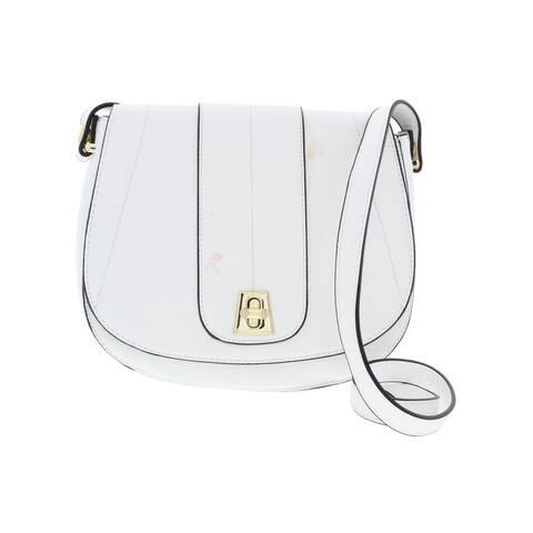BCBGeneration Womens Alena Saddle Handbag Faux Leather Shoulder - Medium