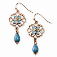 Cultura Glass Pearl Button Post Earrings