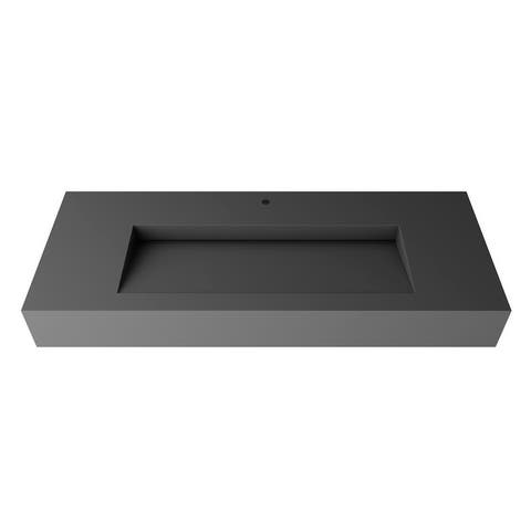 Pyramid Solid Surface Wall-Mounted Sink