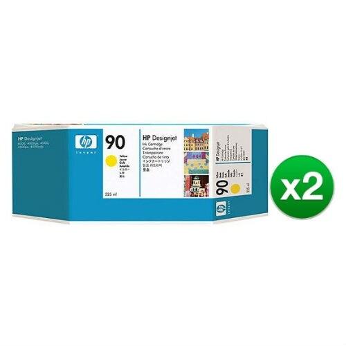 HP 90 400-ml Yellow DesignJet Ink Cartridge (C5065A) (2-Pack)