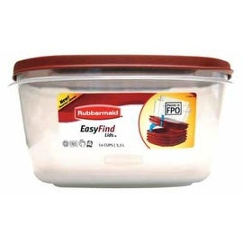 Rubbermaid 1777161 Food Storage Container 14 Cup, Clear Base
