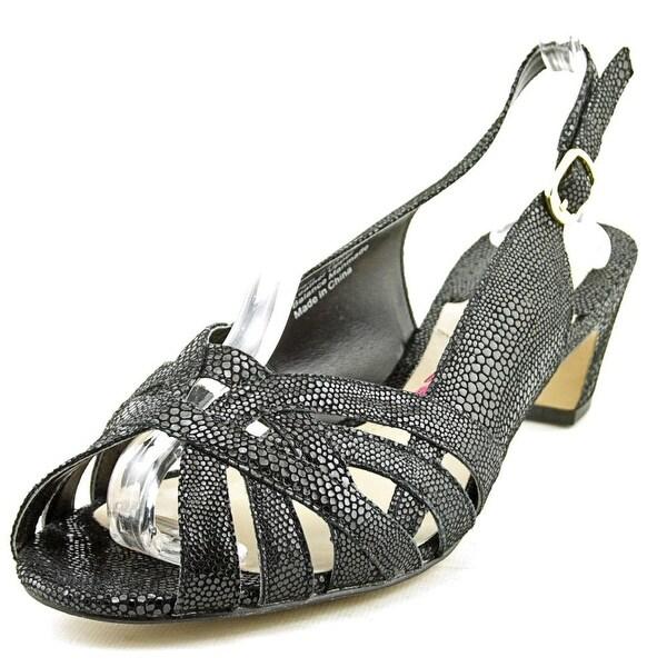 Ros Hommerson Pam Women Peep-Toe Leather Slingback Heel