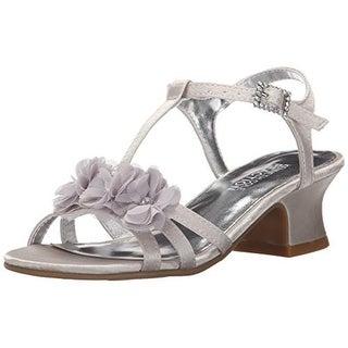 Kenneth Cole Reaction Girls Starlight Crystal Floral Rhinestone Dress Sandals - 5.5 medium (b,m)