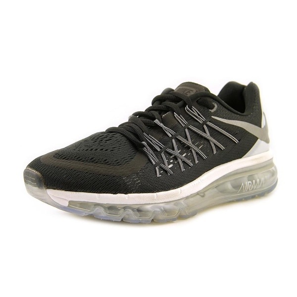 Nike Air Max 2015 Women Round Toe Synthetic Black Running Shoe