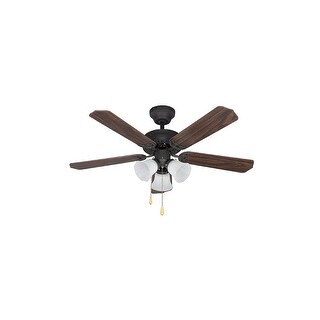 Canarm CF42TRA5 Tradition 3-Light 5 Blade Hanging Ceiling Fan