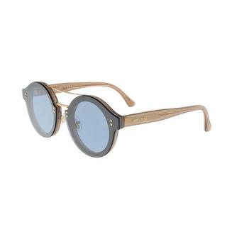 Jimmy Choo Montie/S 018Q Navy Glitter Round Sunglasses - 64-13-145