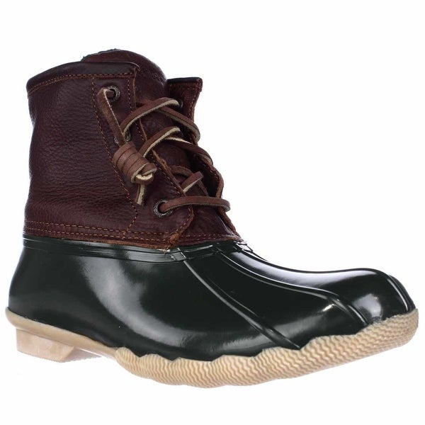 Sperry Top-Sider Saltwater Short Rain Boots, Tan Green