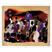 ''Big Band'' by Leroy Campbell African American Art Print (22 x 26 in.)