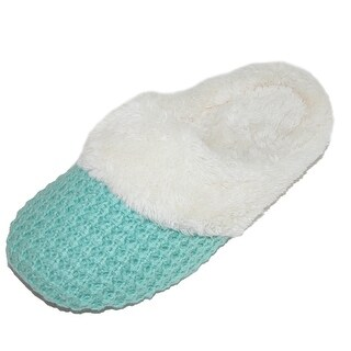 Dearfoams Women's Sweater Knit Closed Toe Scuff Slippers