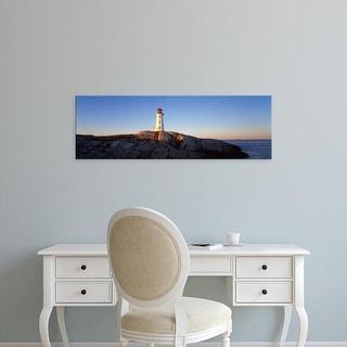 Easy Art Prints Panoramic Image 'Peggy's Point Lighthouse, Halifax Regional, Nova Scotia, Canada' Canvas Art