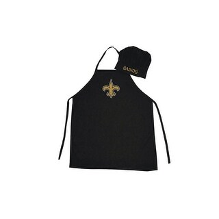 New Orleans Saints NFL Barbecue Apron and Chef's Hat Set Game Day Tailgating
