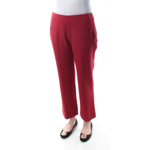 RACHEL ROY Womens Red Straight leg Pants Size: 2