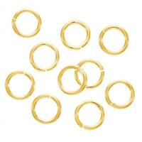 JUMPLOCK Jump Rings, Round 8mm 16 Gauge, 4 Pieces, Gold Filled