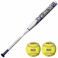 "Louisville Slugger 2018 Xeno -10 Fastpitch Softball Bat (33""/23oz) Bundle"