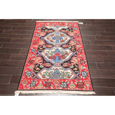 Hand Knotted Reversible Nourison Nourmak Mission Style Black,Red Oriental Area Rug Wool Arts & Crafts Oriental Area Rug (3x5)