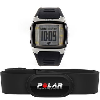Polar FT60M Men's Fitness Training Heart Rate Monitor Watch - Black