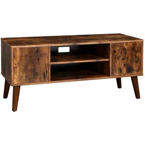 """43"""" TV Stand, TV Console, Mid-Century Modern Entertainment Center for Flat Screen TV, Cable Box, Gaming Consoles, in Living Room"""