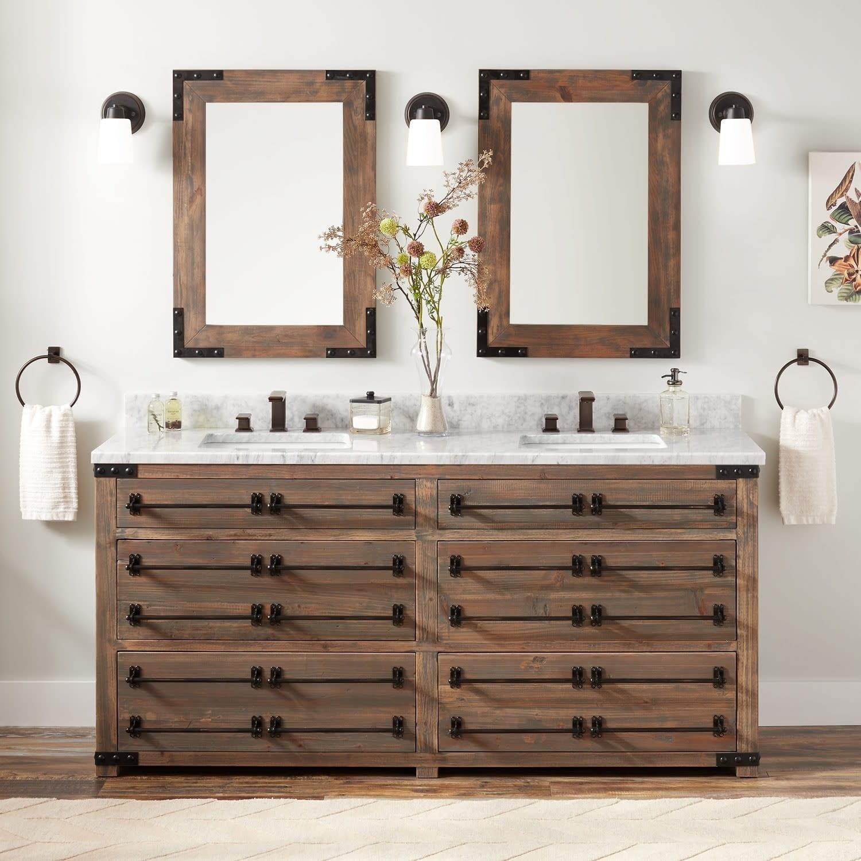 Double Vanity Set