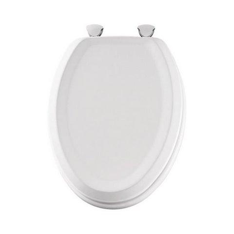 Mayfair 125EC-000 Elongated Wood Toilet Seat in White