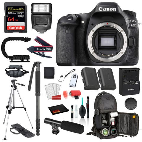 Canon EOS 80D Digital SLR Camera Body Only (1263C004) 18PC