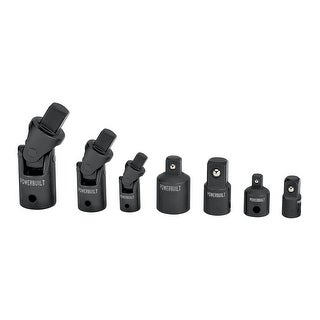 Powerbuilt 7 Piece Impact Universal Joint and Adapter Set
