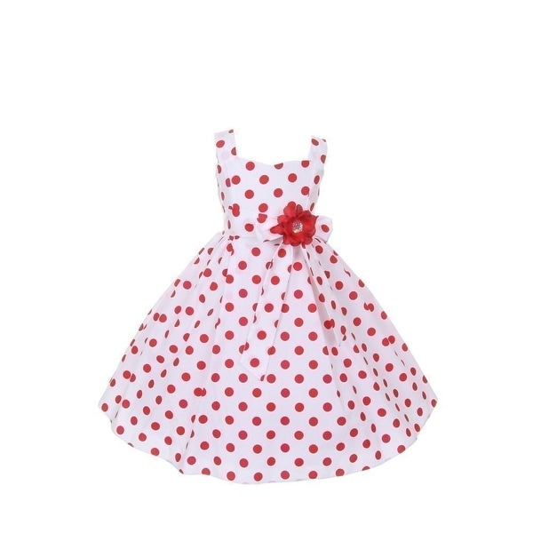 Cinderella Couture Baby Girls Pink White Polka Dot Belted: Shop Cinderella Couture Little Girls Red Polka Dots Easter