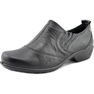Romika Citylight 83 Women Cap Toe Leather Black Loafer