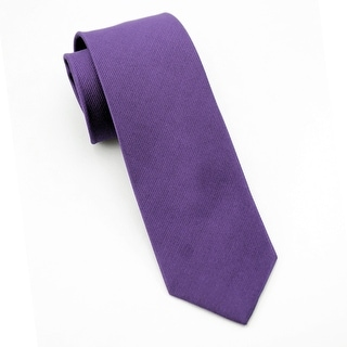 Men's 100% Silk Purple Tie
