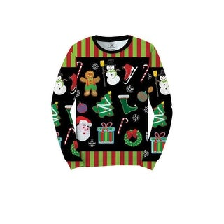 Xmas Icons Faux Ugly Sweater Shirt