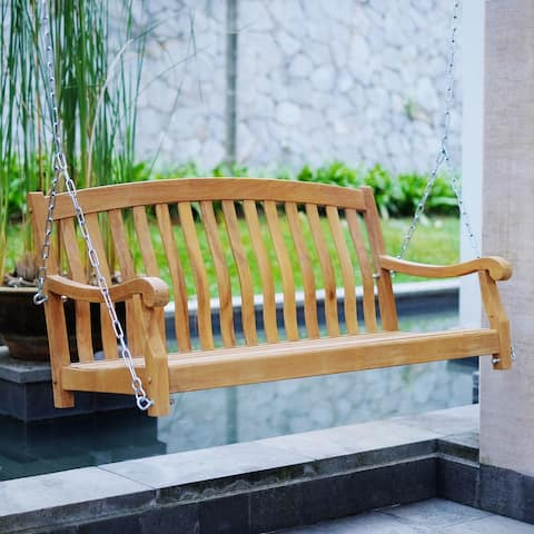 Cambridge Casual Sherwood Teak Swing with Stainless Steel Chain