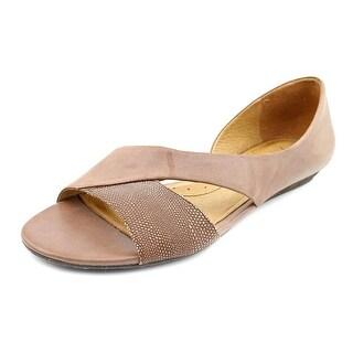 Naya Heaton Women Open Toe Leather Brown Sandals