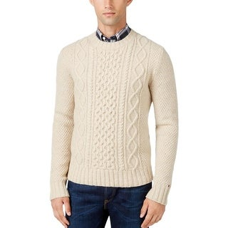 Tommy Hilfiger Mens Pullover Sweater Ribbed Trim Crew Neck